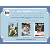 2021 Topps Archives Baseball Hobby Box (Presell)