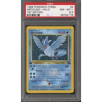 Pokemon Fossil 1st Edition Articuno 2/62 PSA 8.5