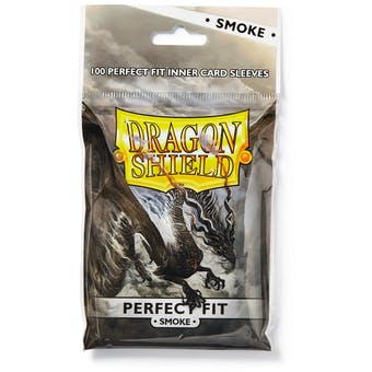 Dragon Shield Card Sleeves Perfect Fit - Smoke (100 Ct.)