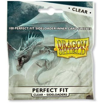 Dragon Shield Card Sleeves Perfect Fit Side Loading - Clear (100 Ct.)