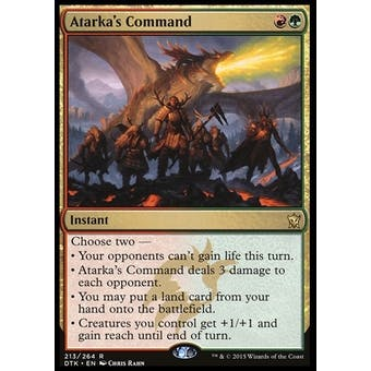 Magic the Gathering Dragons of Tarkir Single Atarka's Command NEAR MINT (NM)