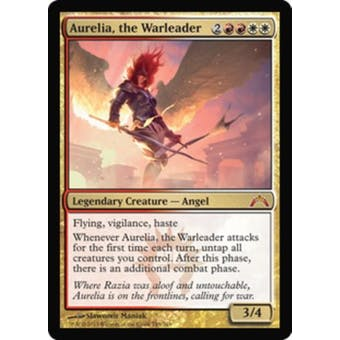 Magic the Gathering Gatecrash Single Aurelia, the Warleader Foil