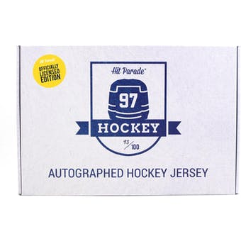 2019/20 Hit Parade Autographed OFFICIALLY LICENSED Hockey Jersey Hobby Box - Series 6 - McDavid & Lemieux!