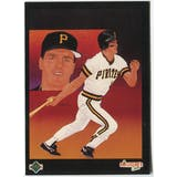 1989 Upper Deck Andy Van Slyke Pittsburgh Pirates Blank Back Black Border Proof