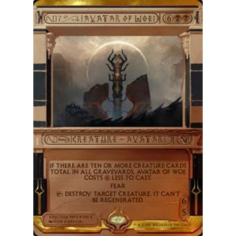 Magic the Gathering Amonkhet Invocation Single Avatar of Woe FOIL - NEAR MINT (NM)