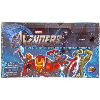 Marvel Avengers Assemble Trading Cards Hobby Box (Upper Deck 2012)