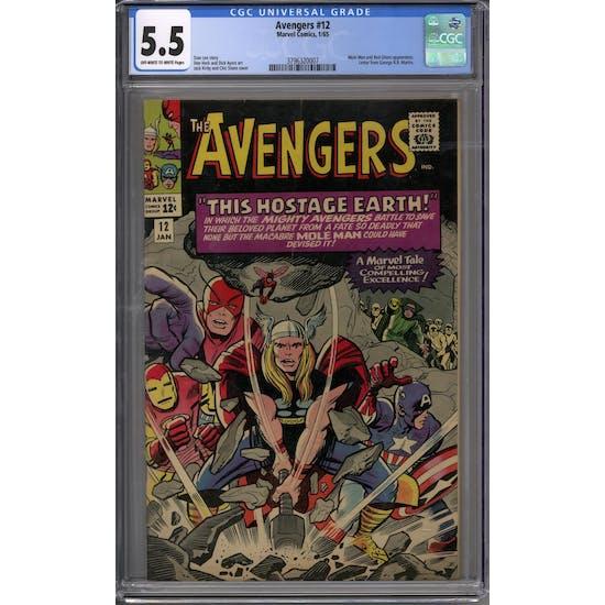 Avengers #12 CGC 5.5 (OW-W) *3796320007*