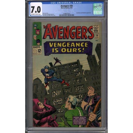 Avengers #20 CGC 7.0 (OW-W) *3788022010*