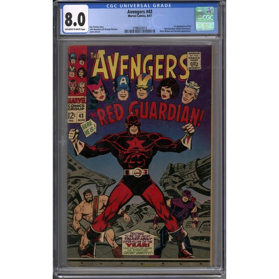 Avengers #43 CGC 8.0 (OW-W) *3788022012*