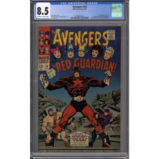 Avengers #43 CGC 8.5 (OW-W) *3788022013*