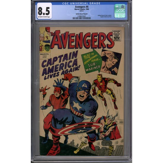 Avengers #4 Gold Record Reprint CGC 8.5 (OW-W) *3788022001*