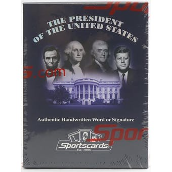 2020 Sportscards.com A Word From...The President of the United States Hobby Box