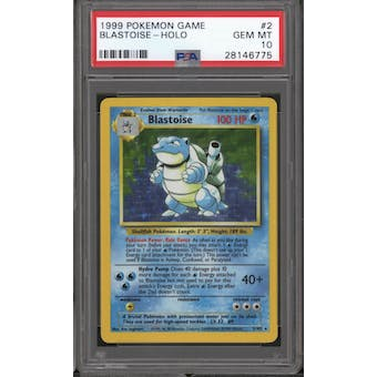 Pokemon Base Set Unlimited Blastoise 2/102 PSA 10 GEM MINT