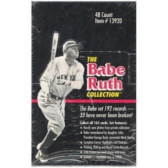 1992 Megacards The Babe Ruth Collection Baseball Box