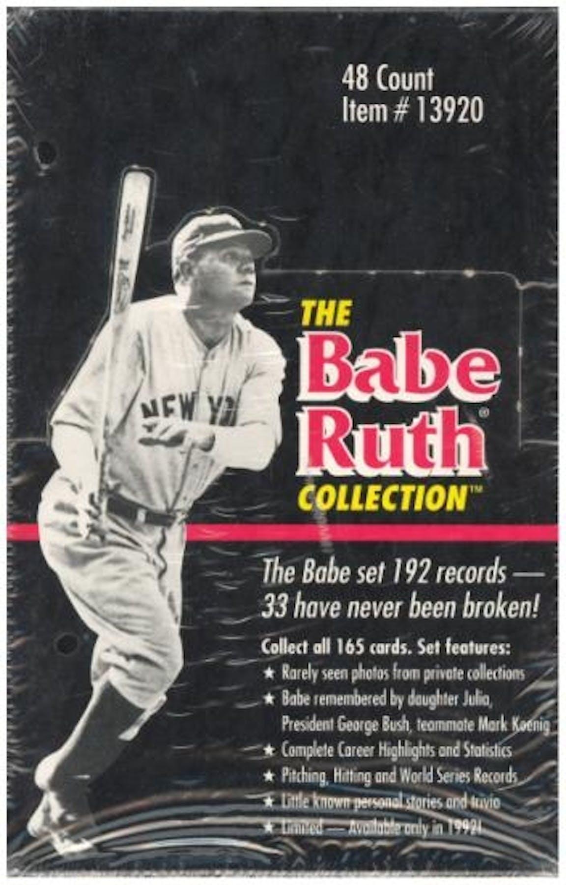 1992 Megacards The Babe Ruth Collection Baseball Box Da