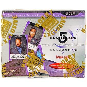 Babylon 5 Season Five Trading Cards Hobby Box (1998 Fleer/Skybox)