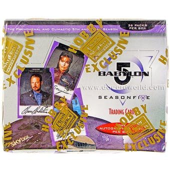 Babylon 5 Season Five Trading Cards Hobby Box (1998 Fleer/Skybox)