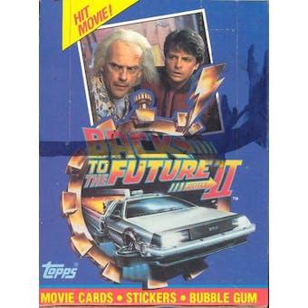 Back to the Future II Wax Box (1989 Topps)