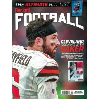 2019 Beckett Football Monthly Price Guide (#345 October) (Baker Mayfield)