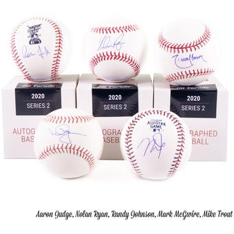 2020 Hit Parade Autographed Baseball Hobby Box - Series 2 -M. Trout, R. Acuna, & M. Rivera!