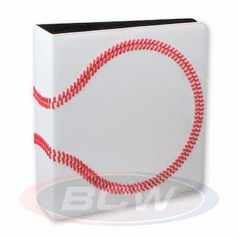 "BCW 3"" White Premium Baseball Card Collectors Album"