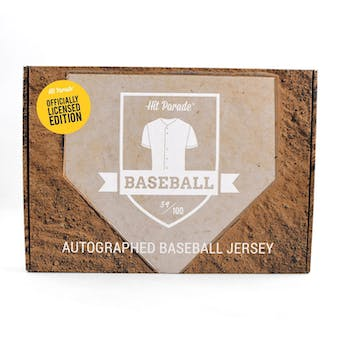2020 Hit Parade Autographed OFFICIALLY LICENSED Baseball Jersey Hobby Box - Series 3 - MIKE TROUT!!!