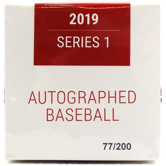2019 Hit Parade Autographed Baseball Hobby Box - Series 1 - Mike Trout, J.D. Martinez, & Ken Griffey Jr. !!!!