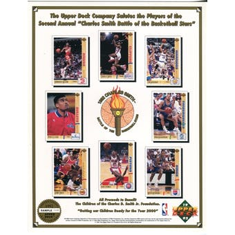 1992 Upper Deck Battle of the Basketball Stars Commemorative Sheet Sample Lot of 10