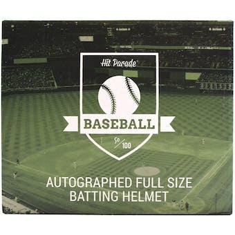 2021 Hit Parade Autographed Baseball Batting Helmet Hobby Box - Series 1 - Acuna, Soto, Tatis Jr. & Yelich!!