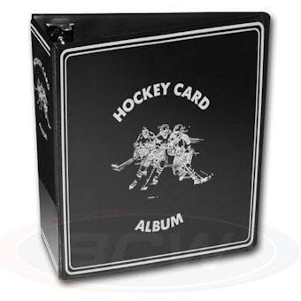 """BCW 3"""" Black Hockey Card Collectors Album"""