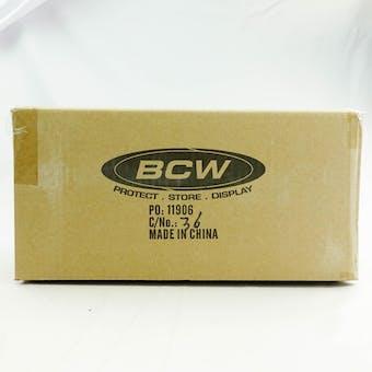 CLOSEOUT - BCW DECK VAULT LX 80 YELLOW 12-BOX CASE