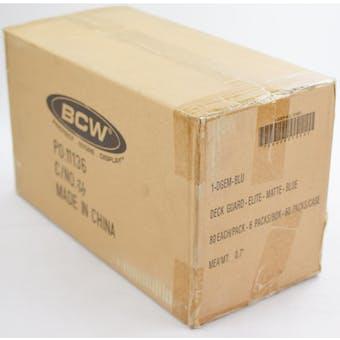 CLOSEOUT - BCW ELITE MATTE BLUE DECK PROTECTORS 10-BOX CASE !!!