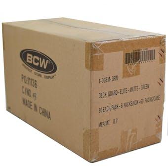 CLOSEOUT - BCW ELITE MATTE GREEN DECK PROTECTORS 10-BOX CASE !!!