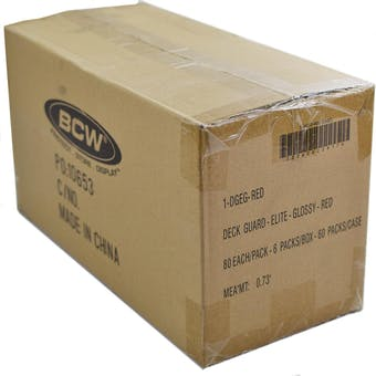 CLOSEOUT - BCW ELITE GLOSSY RED DECK PROTECTORS 10-BOX CASE !!!