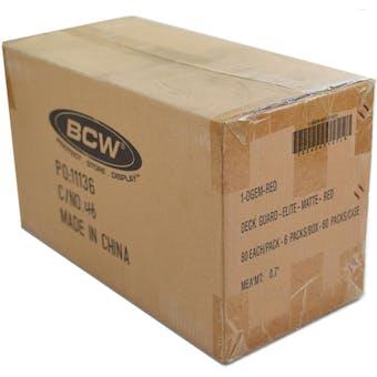 CLOSEOUT - BCW ELITE MATTE RED DECK PROTECTORS 10-BOX CASE !!!