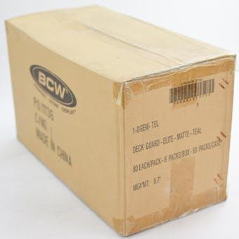 CLOSEOUT - BCW ELITE MATTE TEAL DECK PROTECTORS 10-BOX CASE !!!