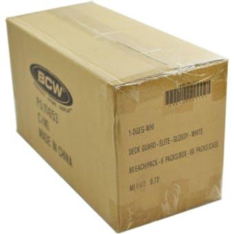 CLOSEOUT - BCW ELITE GLOSSY WHITE DECK PROTECTORS 10-BOX CASE !!!