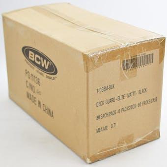 CLOSEOUT - BCW ELITE MATTE BLACK DECK PROTECTORS 10-BOX CASE !!!