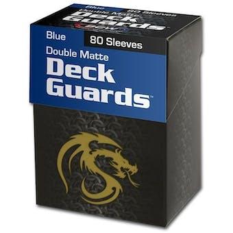 CLOSEOUT - BCW DOUBLE MATTE BLUE 80 COUNT BOXED DECK PROTECTORS - 36-BOX CASE !!!