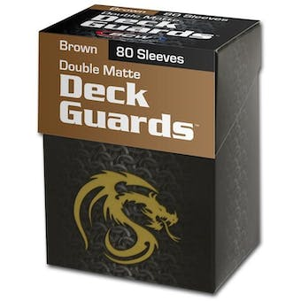CLOSEOUT - BCW DOUBLE MATTE BROWN 80 COUNT BOXED DECK PROTECTORS - LOT OF 6!!!