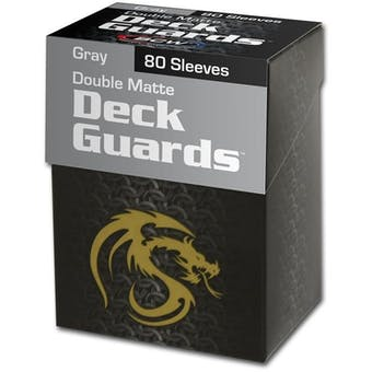CLOSEOUT - BCW DOUBLE MATTE GRAY 80 COUNT BOXED DECK PROTECTORS - LOT OF 6!!!
