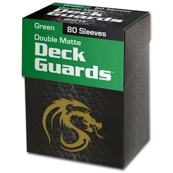 CLOSEOUT - BCW DOUBLE MATTE GREEN 80 COUNT BOXED DECK PROTECTORS - 36-BOX CASE !!!
