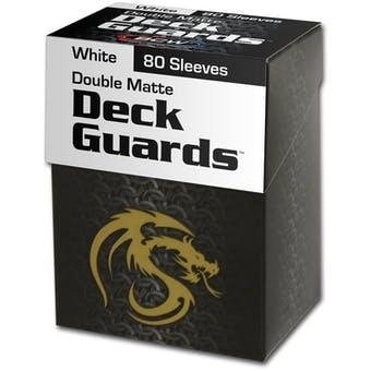 CLOSEOUT - BCW DOUBLE MATTE WHITE 80 COUNT BOXED DECK PROTECTORS - LOT OF 6!!!