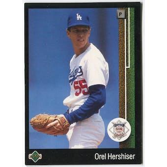 1989 Upper Deck Orel Hershiser Los Angeles Dodgers NLCS #661 Black Border Proof
