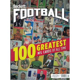 2020 Beckett Football Monthly Price Guide (#348 January) (100 Greatest NFL Cards)