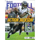 2020 Beckett Football Monthly Price Guide (#349 February) (Lamar Jackson)