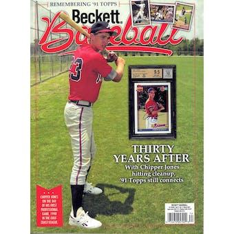 2021 Beckett Baseball Monthly Price Guide (#180 March) (Chipper Jones)