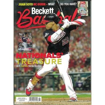 2020 Beckett Baseball Monthly Price Guide (#166 January) (Juan Soto)