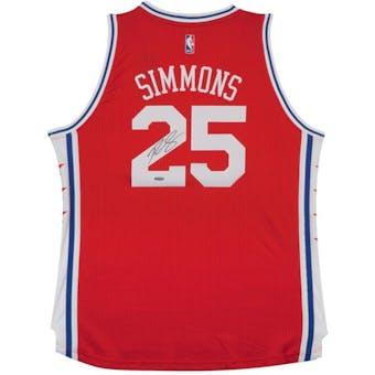Ben Simmons Autographed Philadelphia 76ers Red Basketball Jersey UDA
