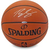 Ben Simmons Autographed Spalding Silver Signature Basketball UDA